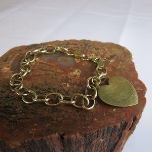 Vintage 10K Yellow Gold Charm Chain Bracelet